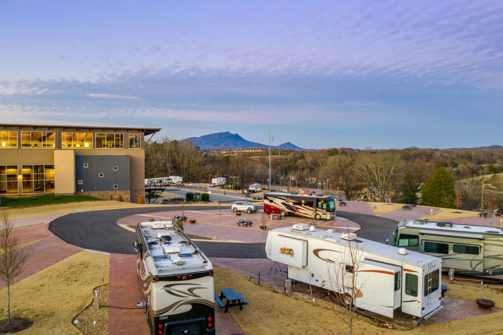The Ridge Outdoor Resort RV in Pigeon Forge and the Great Smoky Mountains