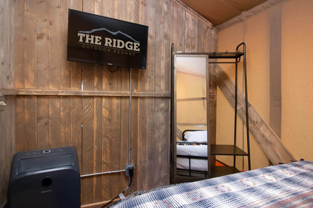 Luxury Tent Camping at The Ridge RV and Outdoor Resort Pigeon Forge, Tn