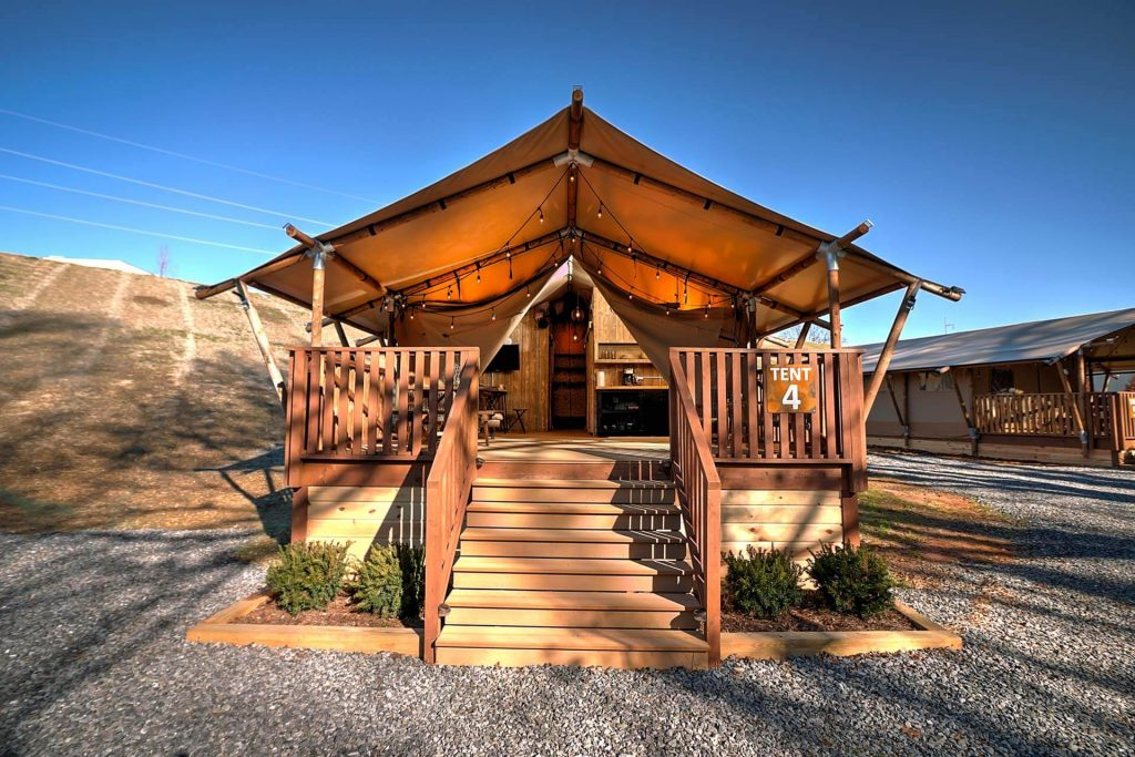 The Ridge Outdoor Resort Luxury Tent Camping Pigeon Forge Tennessee
