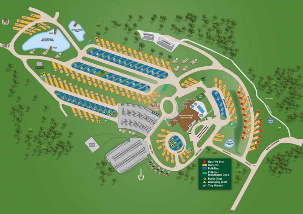 The Ridge Outdoor Resort Map