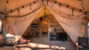 Camping During Covid in Luxury Canvas Glamping Tents at The Ridge Outdoor Resort