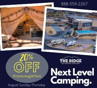 August Discount Glamping Tents 20% Pigeon Forge Camping
