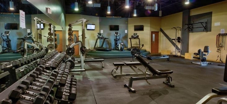 Fitness Room at The Ridge Outdoor RV and Camping Resort in Pigeon Forge Tennessee Home