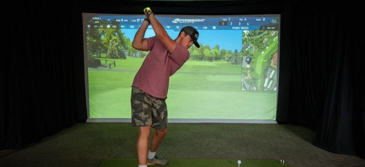 Golf Simulator at The Ridge Outdoor RV and Camping Resort in Pigeon Forge Tennessee Home