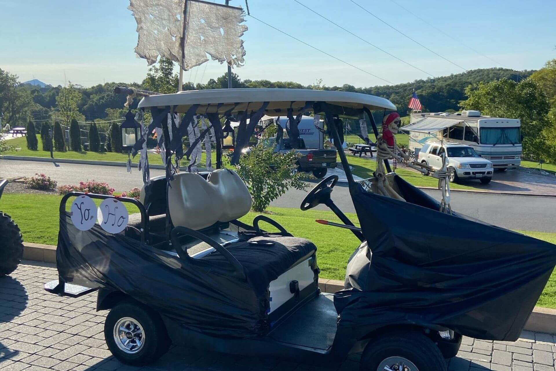 GolfCart Parades Activities at The Ridge Outdoor Resort in the Great Smoky Mountains