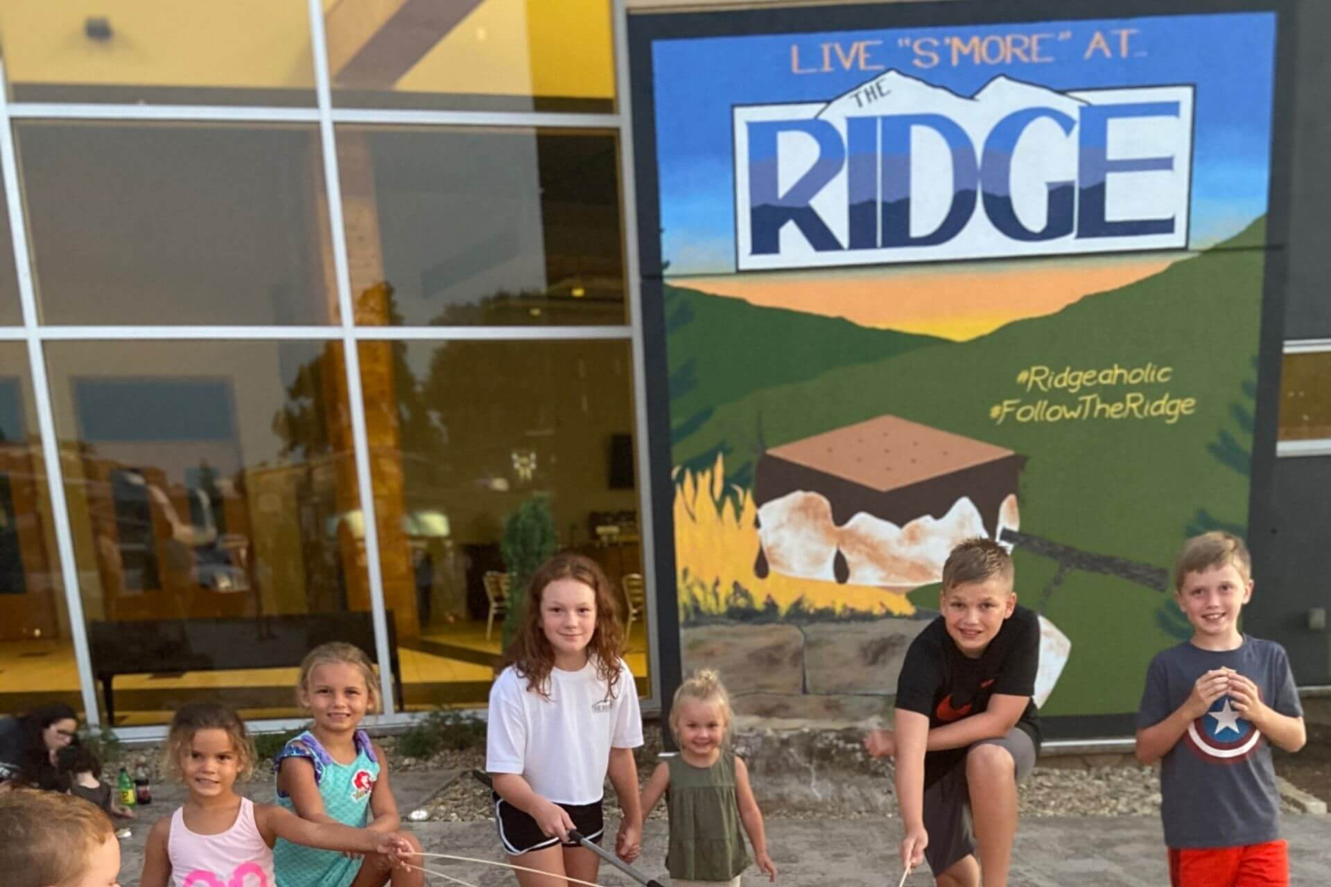 Remote Learning Vacations at The Ridge RV and Outdoor Resort S'mores Campfire
