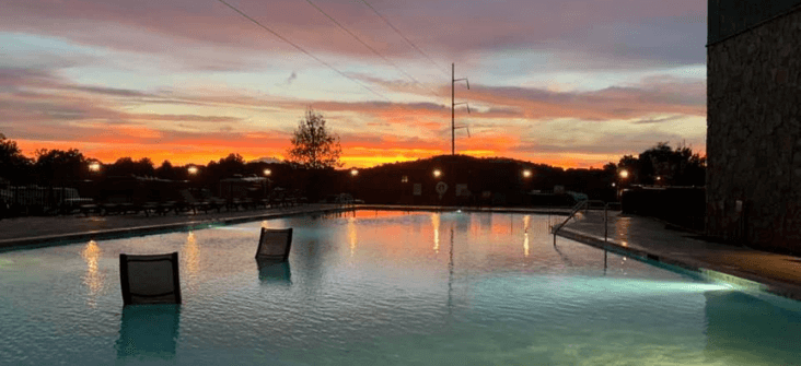 Zero Entry Pool at The Ridge Outdoor RV and Camping Resort in Pigeon Forge Tennessee Home
